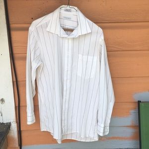 Christian Dior white button up size 16 32-33